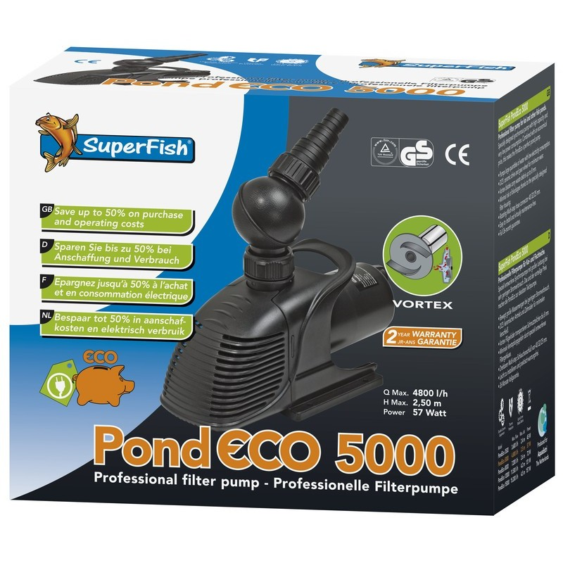 Pompe pour bassin superfish pond eco 5000 boutique bassin for Pompe a bassin pour poisson