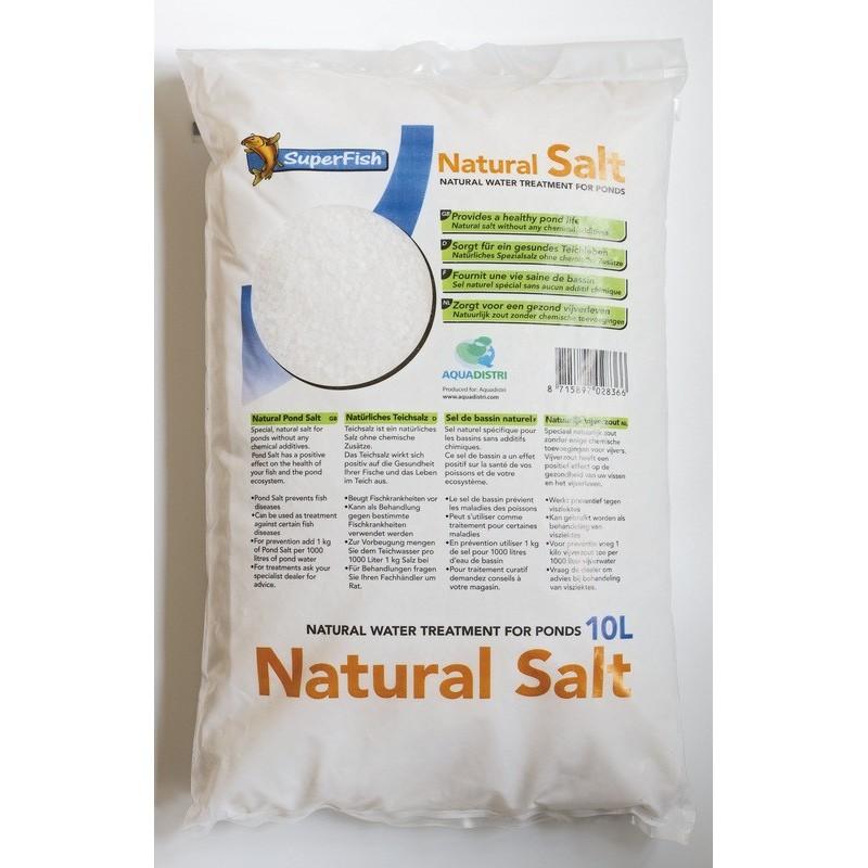 Sac de sel nature 10 kg pour soins des ko boutique bassin for Sac sel piscine