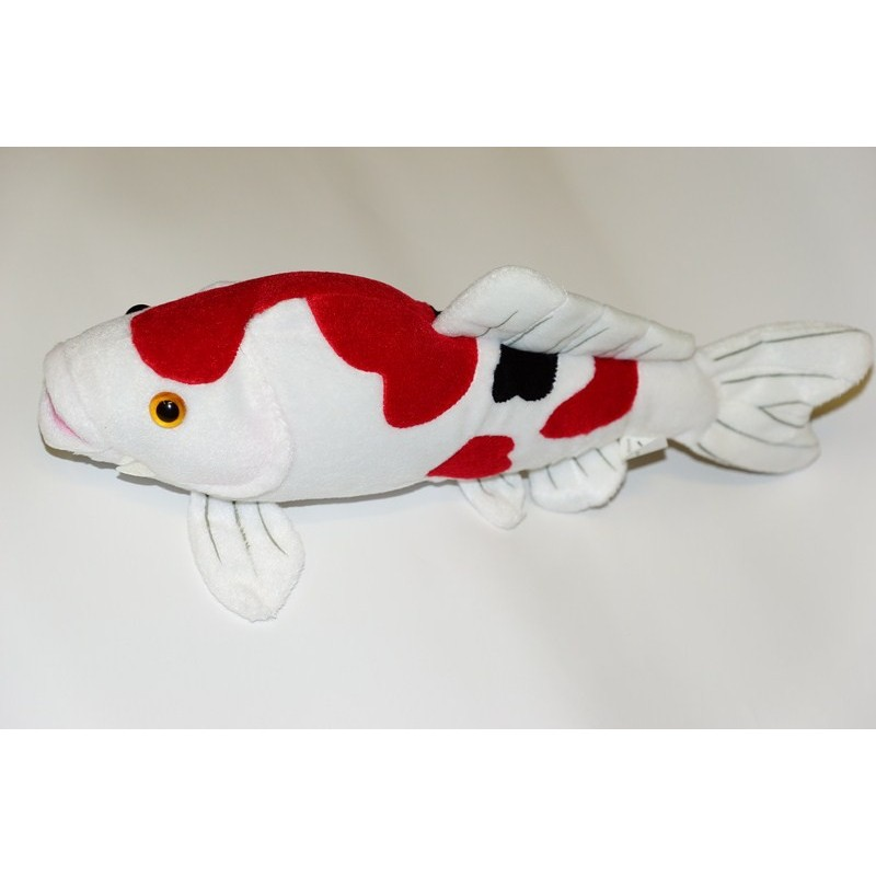 Peluche de carpe ko sank de 34 cm boutique bassin for Poisson koy