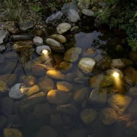 Jeu de 3 rochers étanches LAPIS Halogène GARDEN LIGHTS