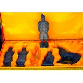 Coffret guerriers chinois 20 cm ( 5 pièces )